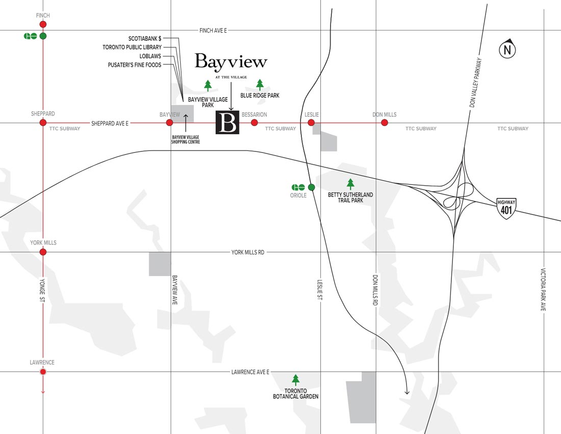 Bayview-at-the-Village-Condo-map